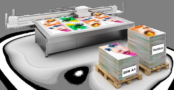 Firmenschilder Druckmaschine